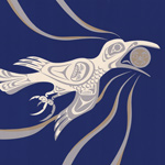 White Raven's Moonlit Flight