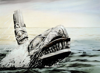 Killer Whale - a painting by April White